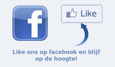 Like ons op facebook en blijf op de hoogte